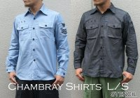 US TYPE CHAMBRAY SHIRTS L/S STENCIL