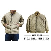 US TYPE WWII M-43 FIELD PARKA PILE LINER