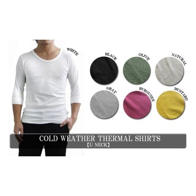 Photo1: COLD WEATHER THERMAL SHIRTS 【U NECK】
