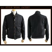 US TYPE A-1 WOOL JACKET BLACK