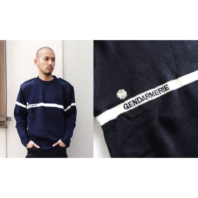 Photo1: FRENCH TYPE FIREMAN LINE SWEATER