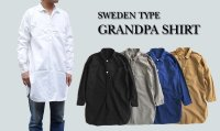 SWEDEN TYPE GRANDPA SHIRT 4color