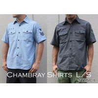 US TYPE CHAMBRAY SHIRTS S/S STENCIL