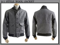 US TYPE A-1 WOOL JACKET GRAY