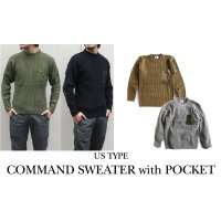 US TYPE COMMAND SWEATER with POCKET