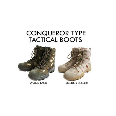 Photo1: CONQUEROR TYPE TACTICAL BOOTS