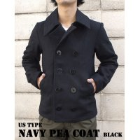 US TYPE NAVY PEA COAT BLACK
