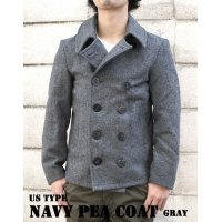 US TYPE NAVY PEA COAT GRAY