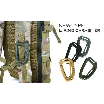Photo1: NEW-TYPE D RING CARABINER