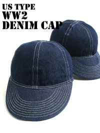 US TYPE WW2 DENIM CAP